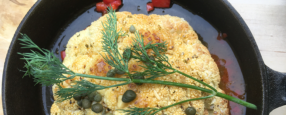 Pot Roasted Cauliflower Piccata